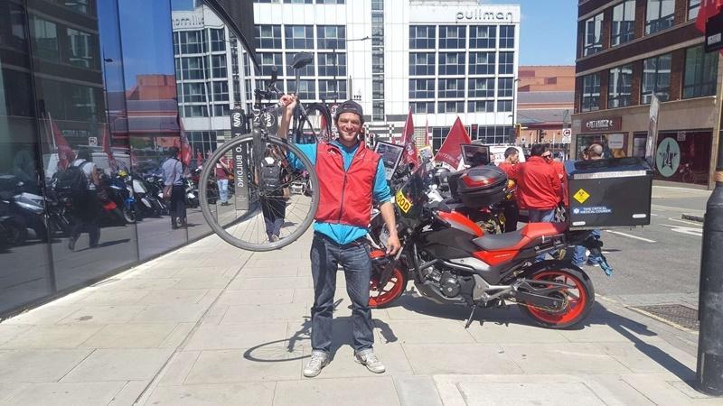 TDL courier on strike (Simon MacMichael)