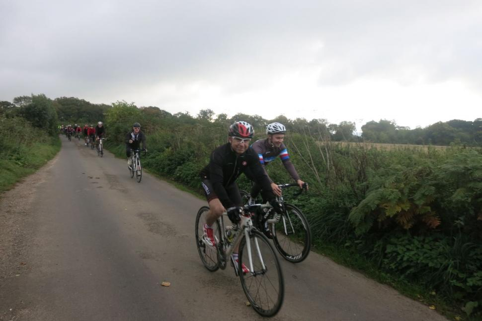 Team road.cc Winchester ride out - smiling for the camera.jpg