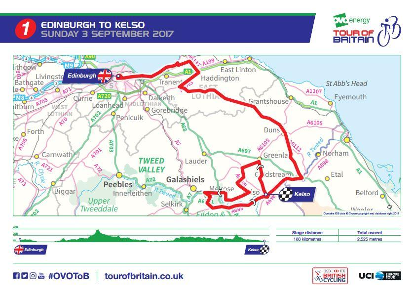 Tour of Britain 2017 Stage 1 route map.JPG