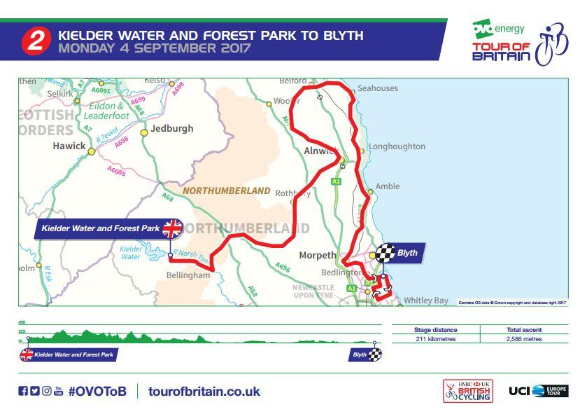 Tour of Britain 2017 Stage 2 route map.JPG