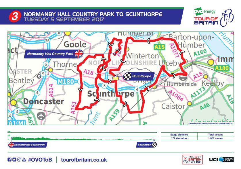 Tour of Britain 2017 Stage 3 route map.JPG