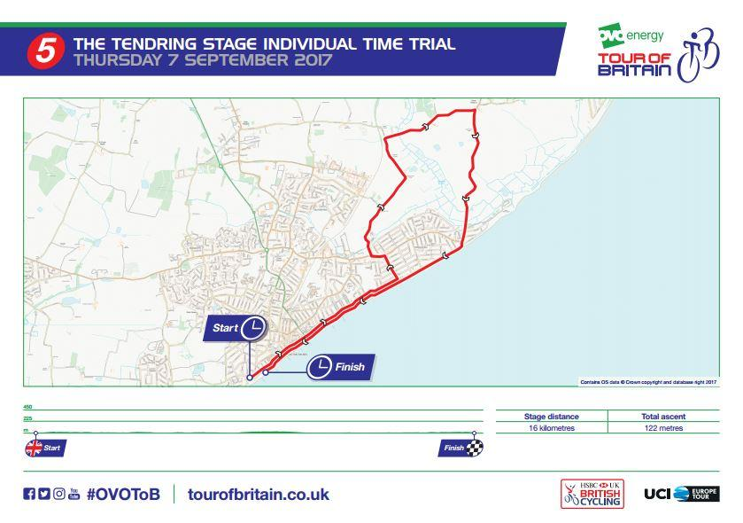 Tour of Britain 2017 Stage 5 route map.JPG