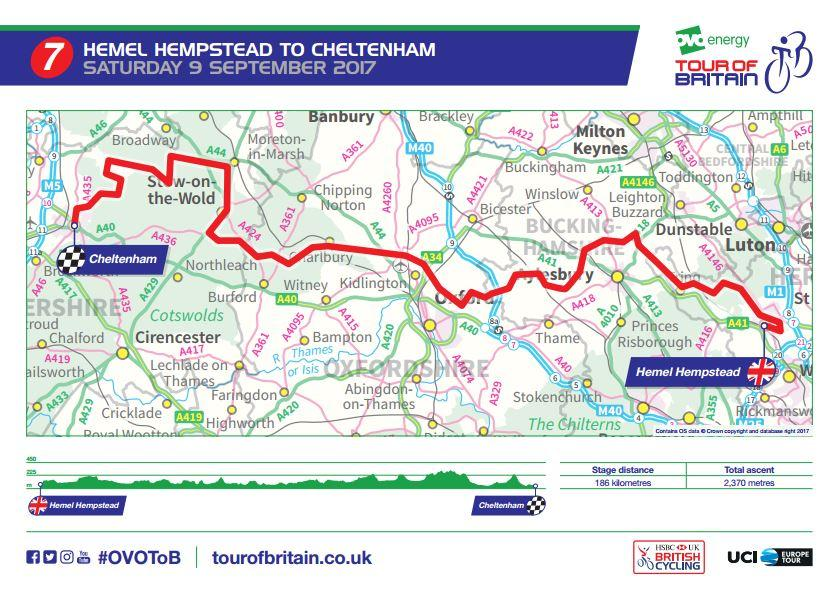 Tour of Britain 2017 Stage 7 route map.JPG