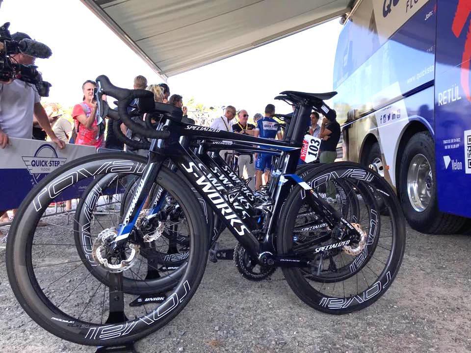 Tour de France 2018 Gaviria Specialized Venge Disc QuickStep Facebook