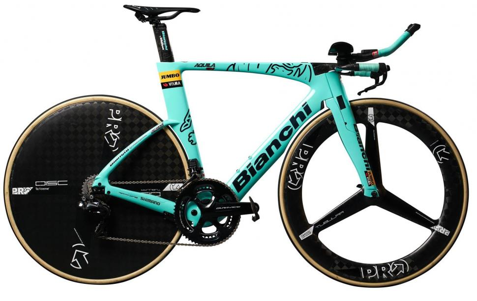 Tour de France 2019 Bianchi Aquila CV Team Jumbo Visma