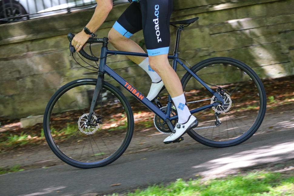 Triban RC120 Disc road bike - riding 2.jpg