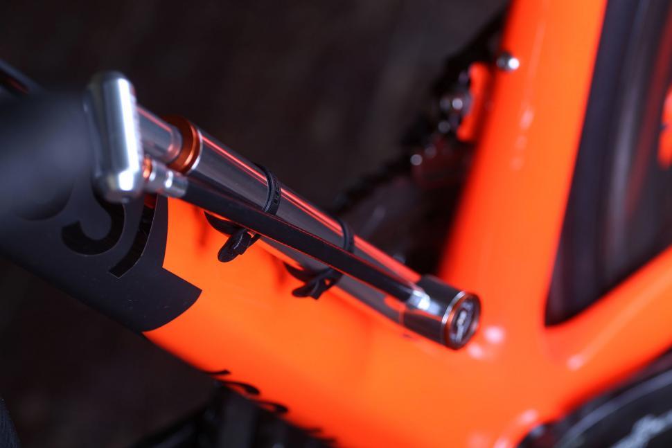 Unich Mini Floor Pump - on bike.jpg