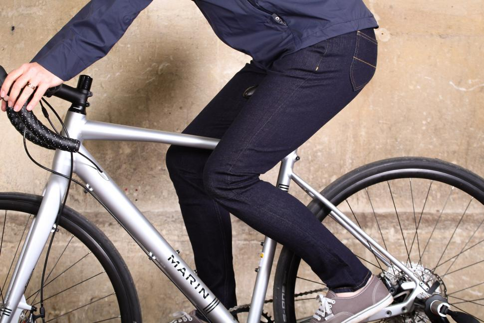 Vulpine Womens Urban Cycling Jeans - riding.jpg