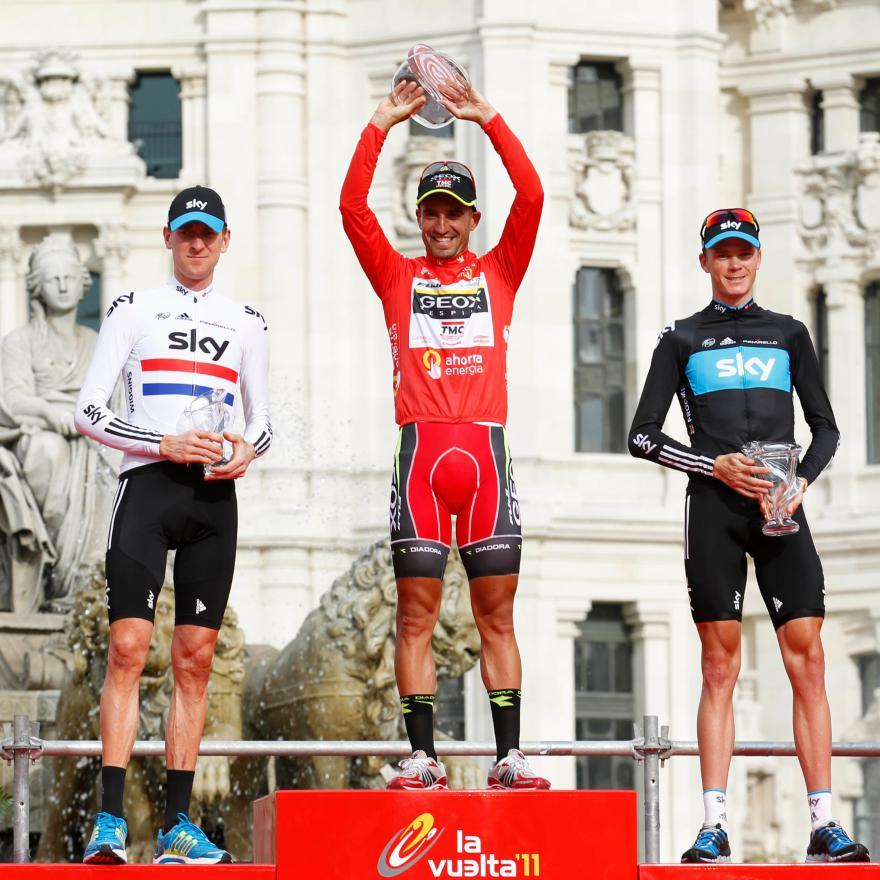 Wiggins Cobo and Froome on Vuelta podium