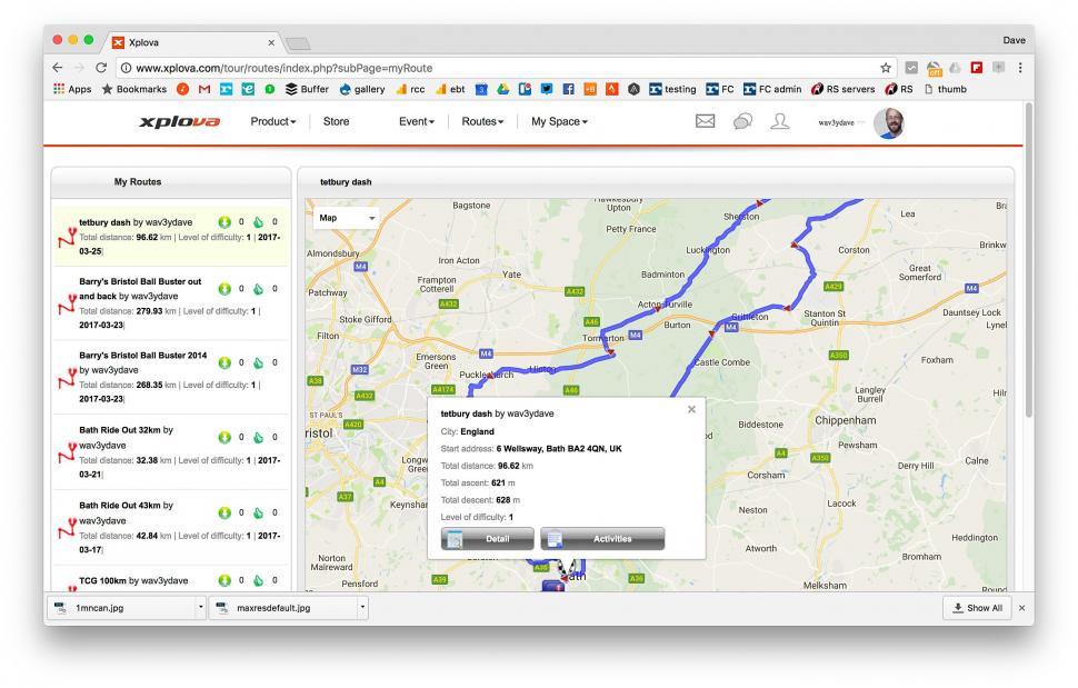Xplova X5 - portal routes.jpg