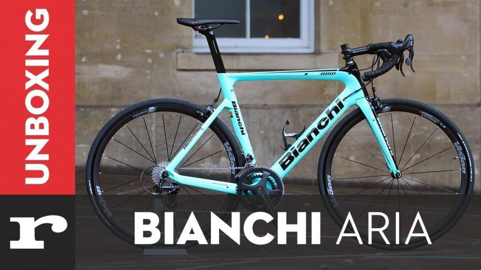 Video Just In Bianchi Aria Aero Road Bike Road Cc
