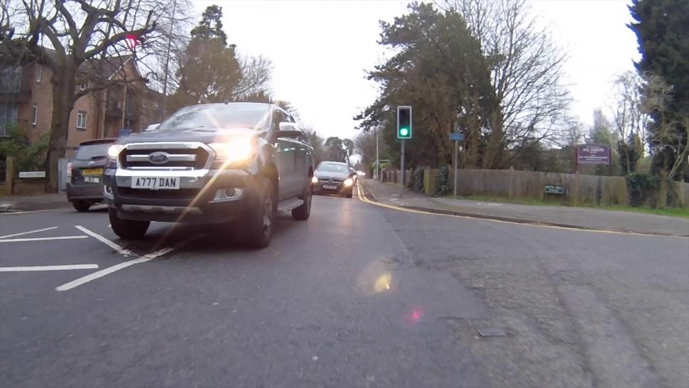 Near Miss of the Day 374: Driver at traffic lights Must Get In Front