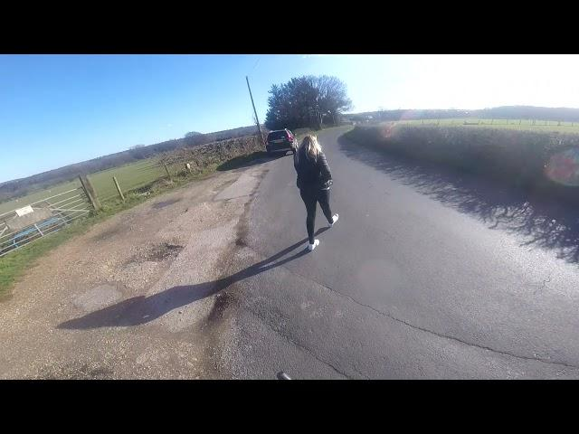 Video: Driver calls 999 to report cyclist for not getting out of her way