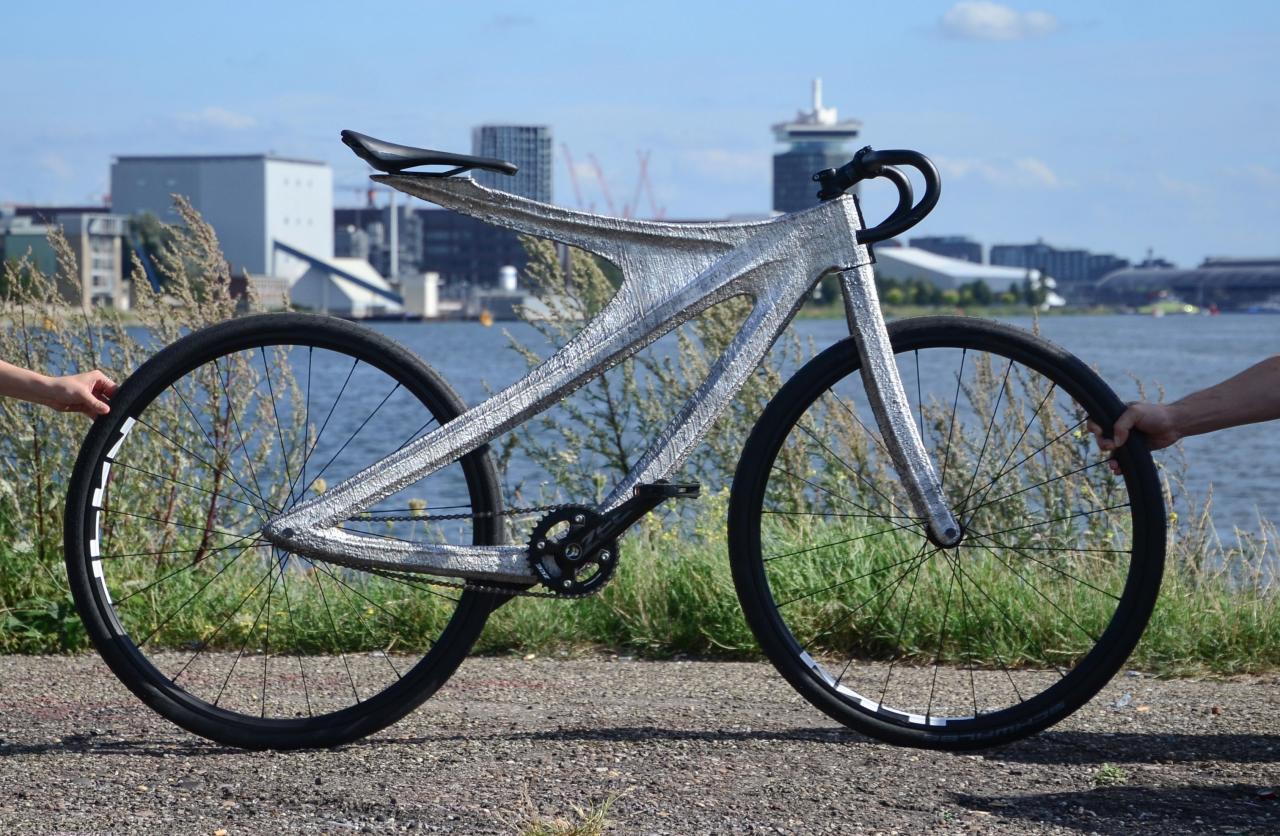 Meet Arc Bike II, a radical 3D printed aluminium bike from Amsterdam
