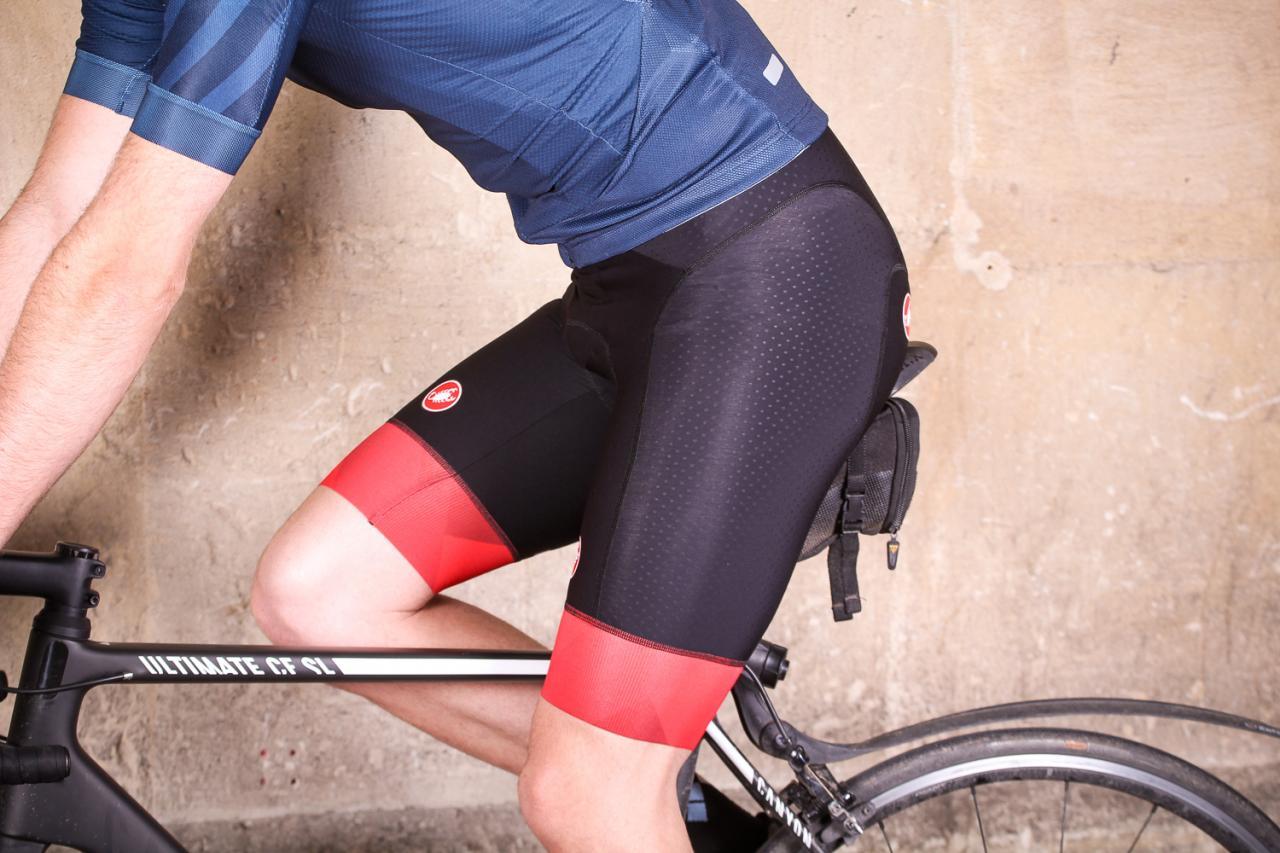 New Castelli Men/'s Premio Bib Shorts Black//Red XL Bike Cycling Road Padded