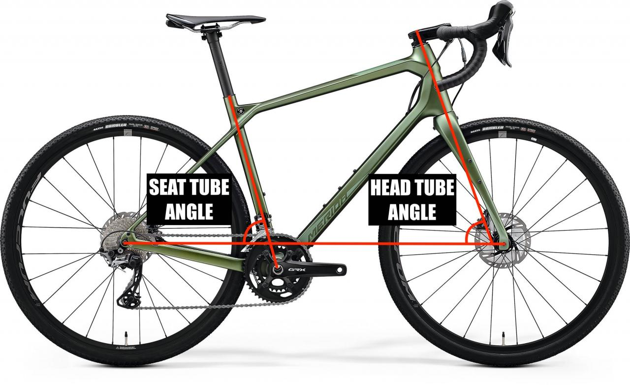 What are seat tube angle, head tube angle and trail?