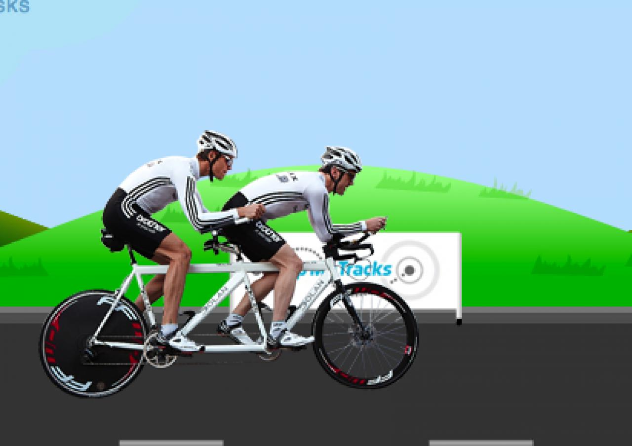 James nell attempting LEJOG tandem record with Jerone ... on