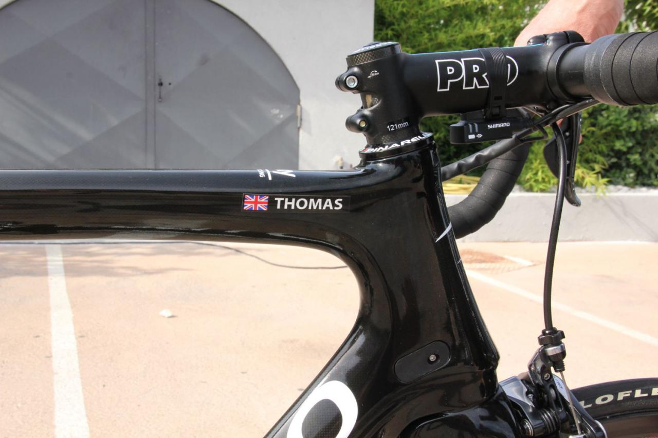 white with black edge. ARGOS top tube or seat stay decal