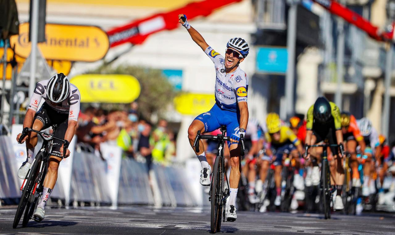 Tour De France Stage 2 Julian Alaphilippe Back In Yellow With Win In Nice Video Highlights Road Cc
