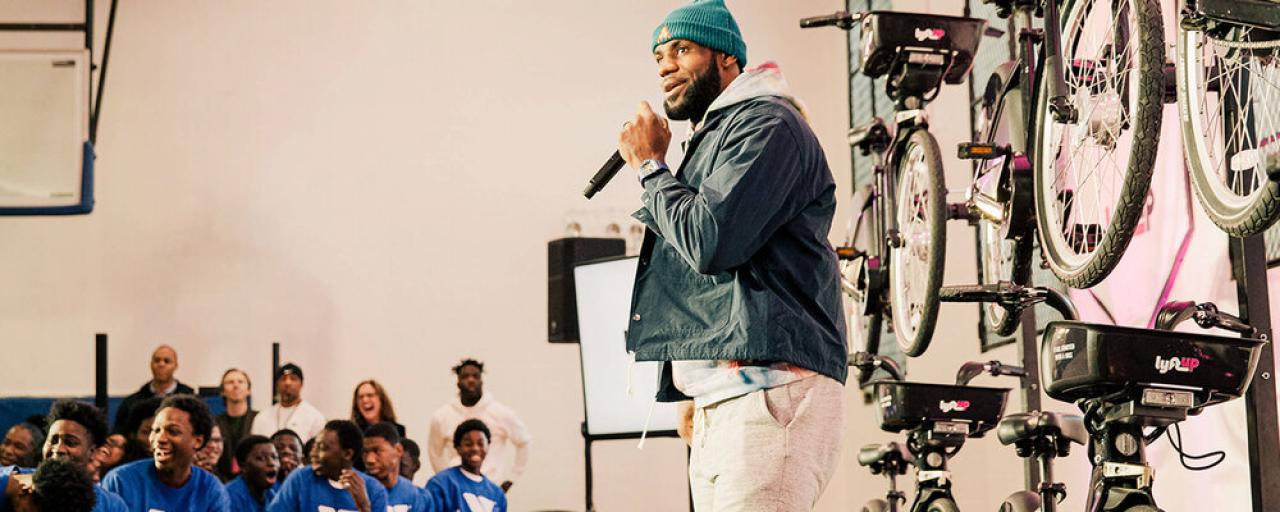 LeBron James partners with Lyft to open bikeshare access to teens across US