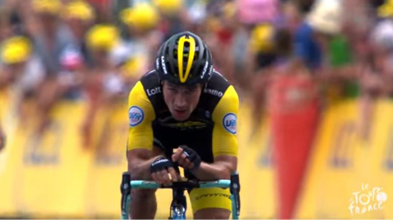 Tom Dumoulin Says Motorbike Helped Primoz Roglic Win Tour De France Stage Road Cc