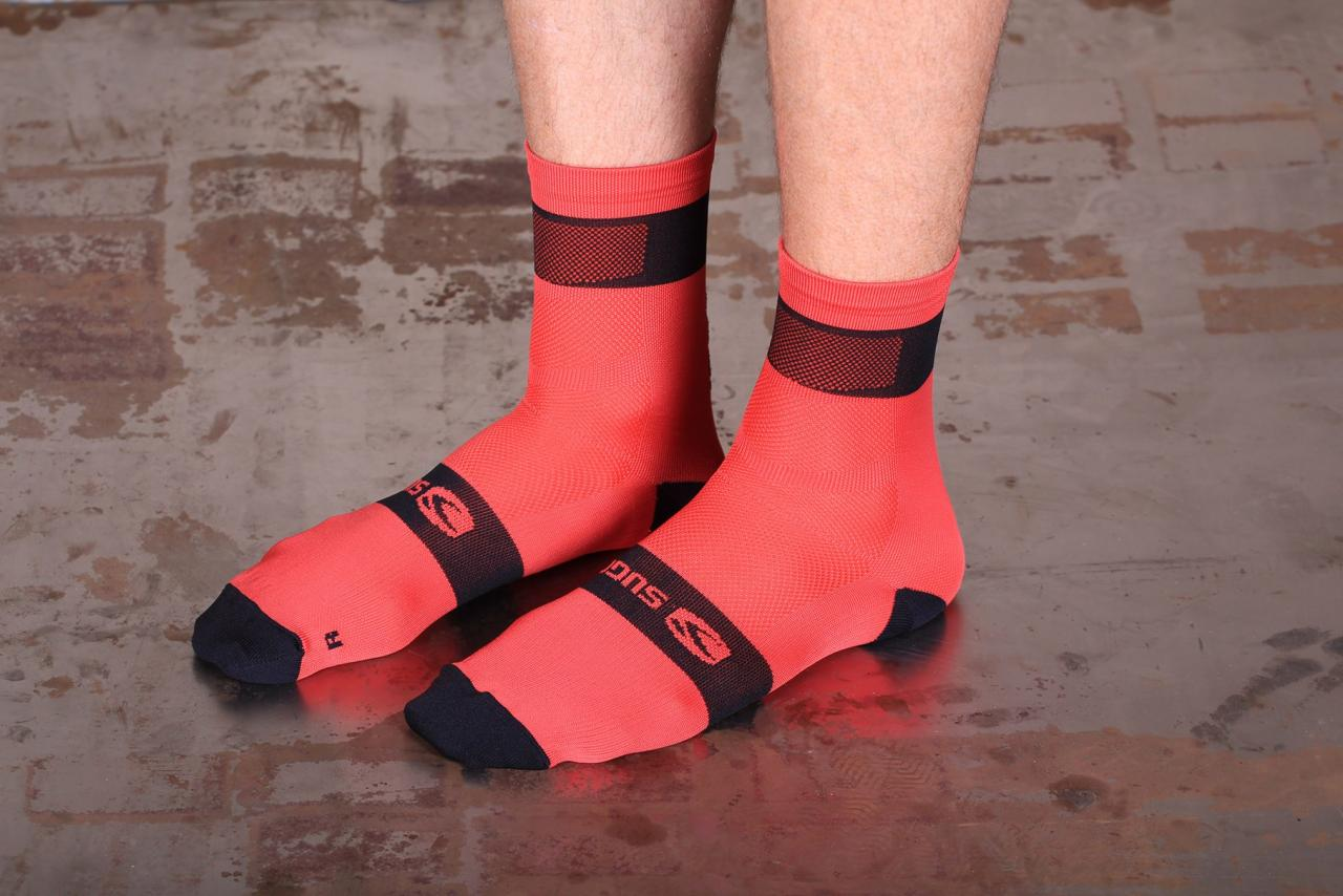 Sugoi RS Crew Socks Ladies Cycle Ventilated Stretch Moisture Wicking Sport