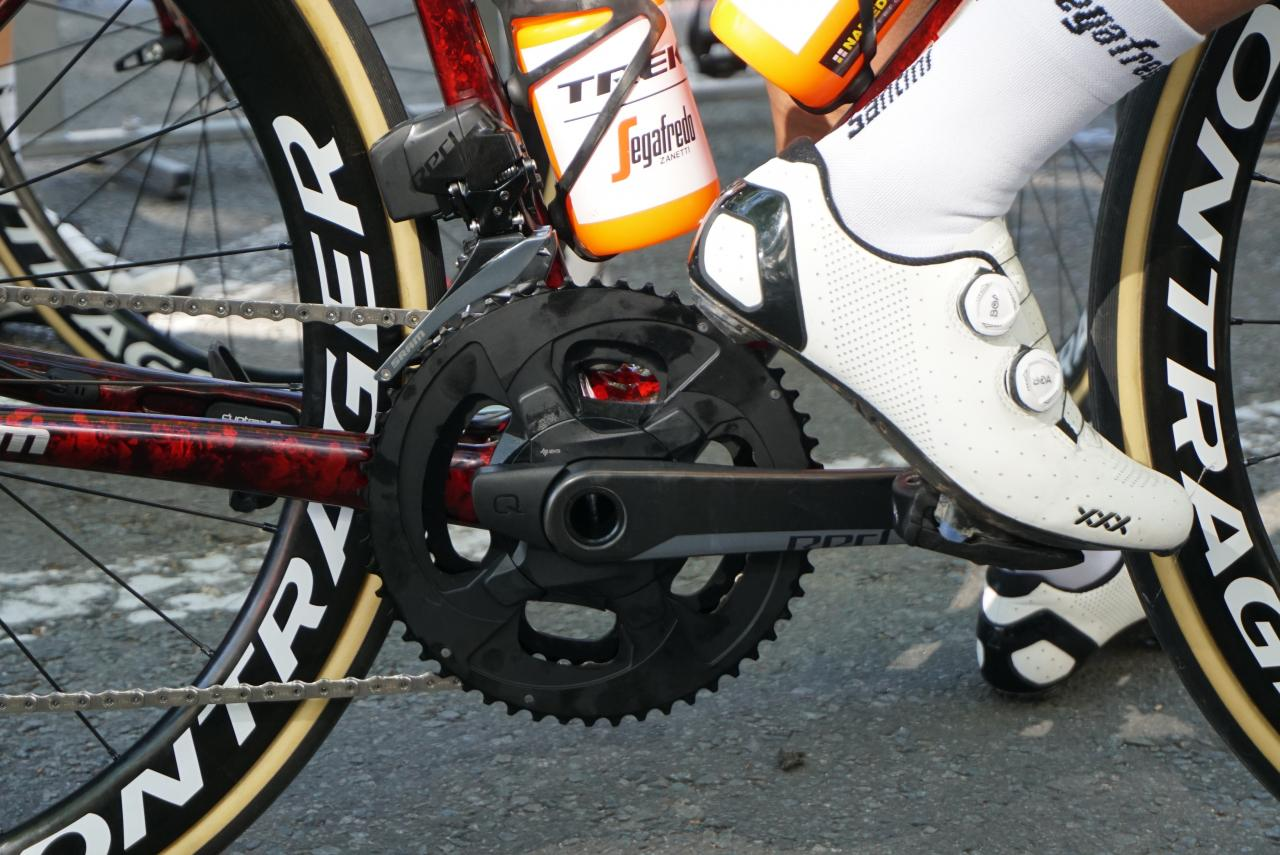 Spotted: SRAM prototype Red eTap AXS chainsets with regular size chainrings