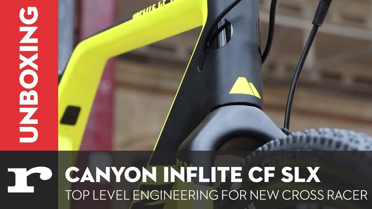 d68aec96f8 Unboxing Video  Canyon Inflite CF SLX 8.0 Pro Race cyclocross bike ...