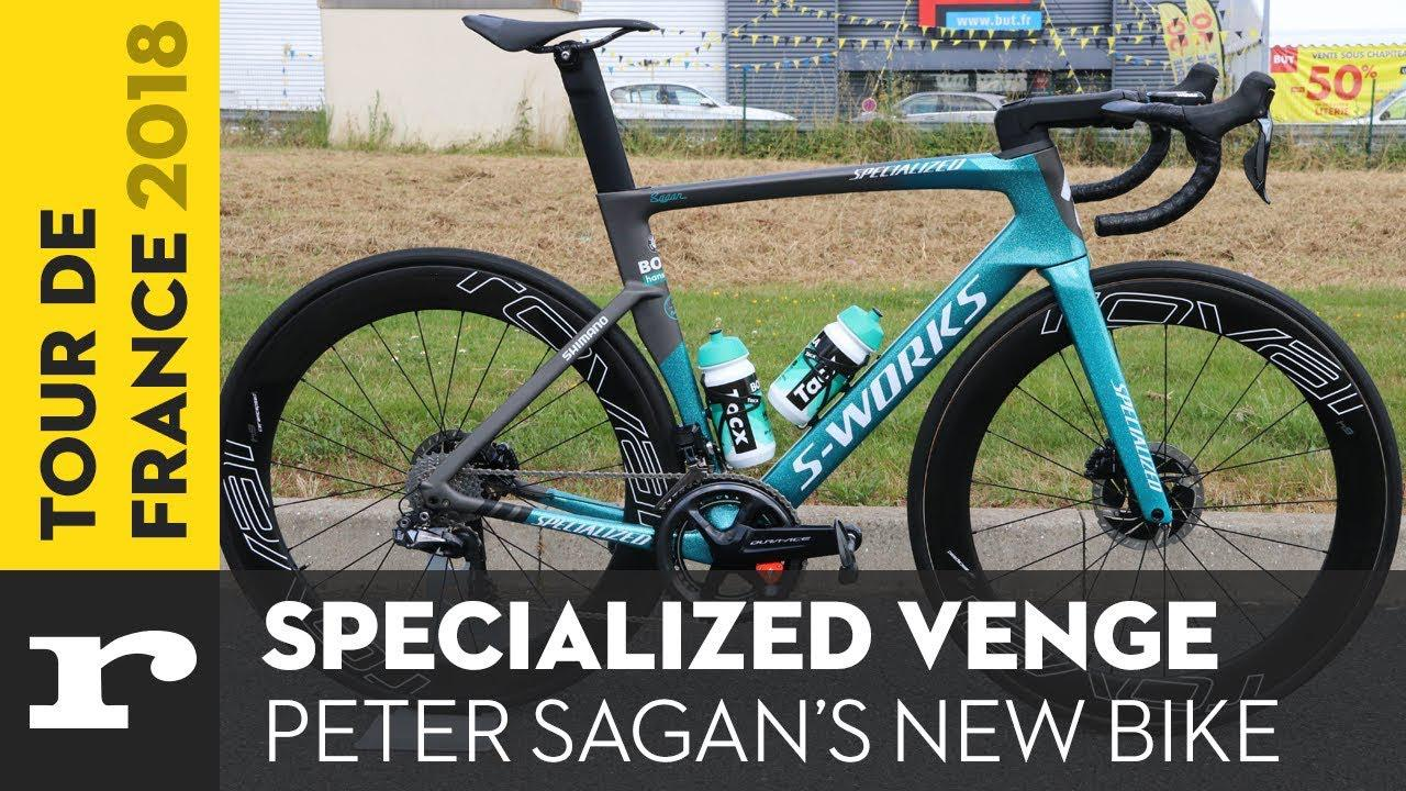 d187ef645b6 Tour de France Tech 2018: Peter Sagan's Specialized S-Works Venge + video |  road.cc
