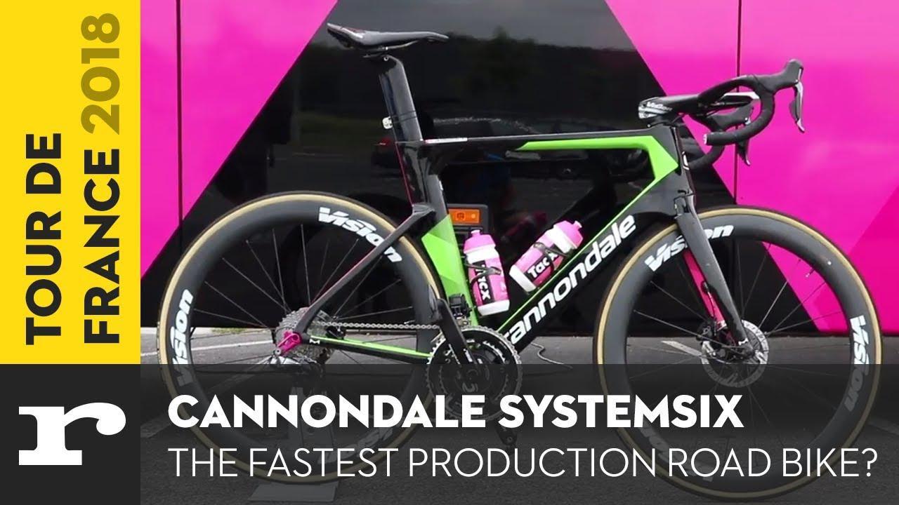 0cb6a059e Tour de France Tech 2018  Education First s Cannondale SystemSix + video