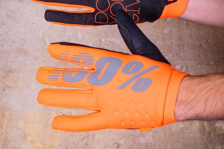 100% Brisker Cold Weather Glove Fluo Orange - back.jpg