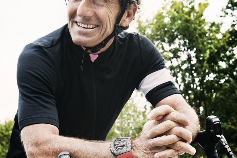 Alain Prost and his cycling watch (Richard Mille).jpg