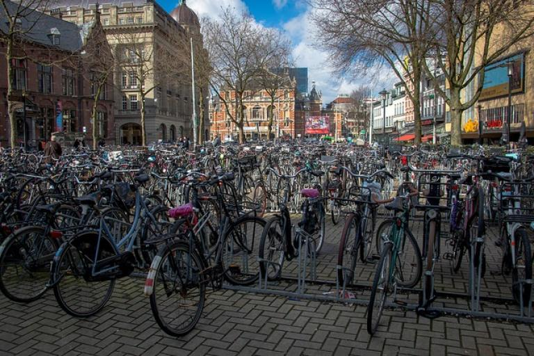 Amsterdam bike parking (CC licensed by Paul Frederickson via Flickr).jpg