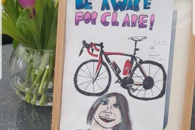 Anabel Killey's tribute to her mother Clare (via GlutenFreeRun on Twitter)