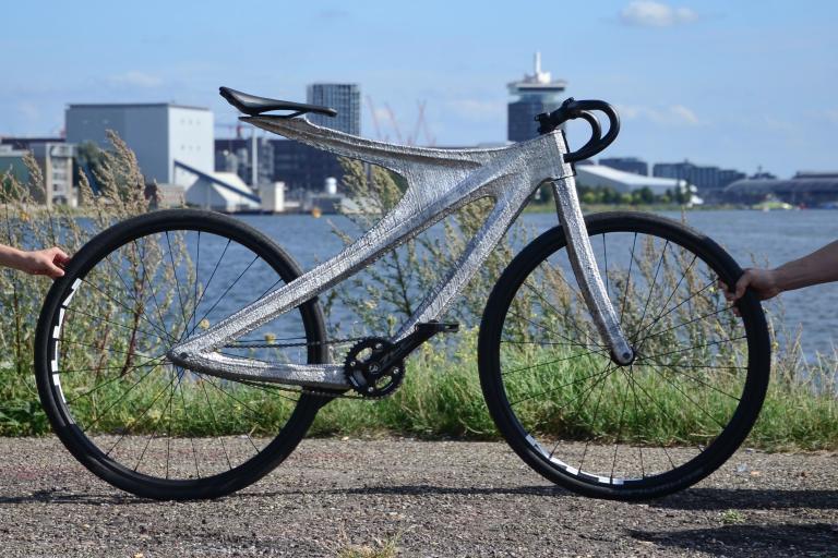 Arc Bike II at the river IJ 2 by Adriaan de Groot