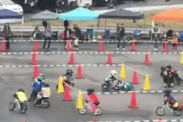 Balance Bike Racing - Takeshi Ishimaru Facebook video still.PNG