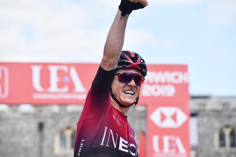 Ben Swift wins 2019 national championship road race (copright SWPix.com)