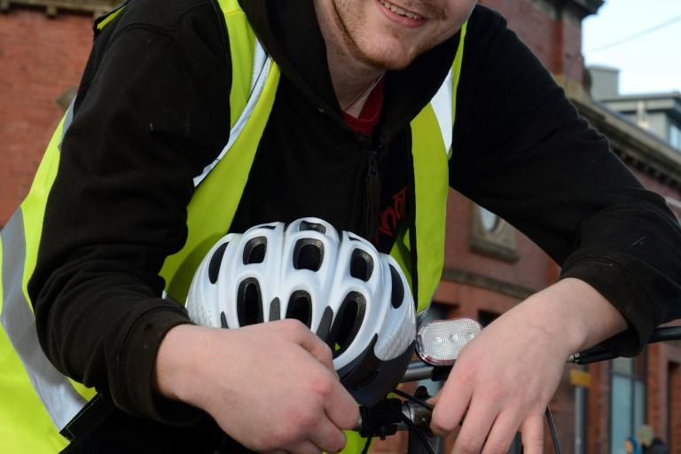 Bike Back to Work beneficiary, Connor Stephens (TfGM).JPG