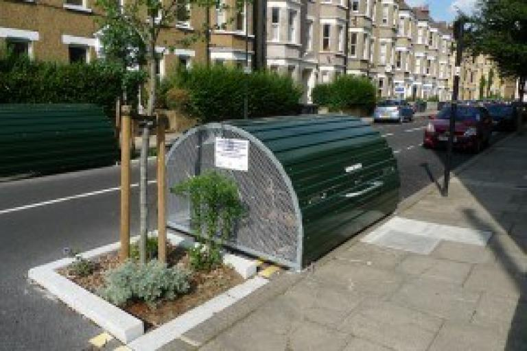 Bike hangar in Hackney (image courtesy of Cyclehoop)