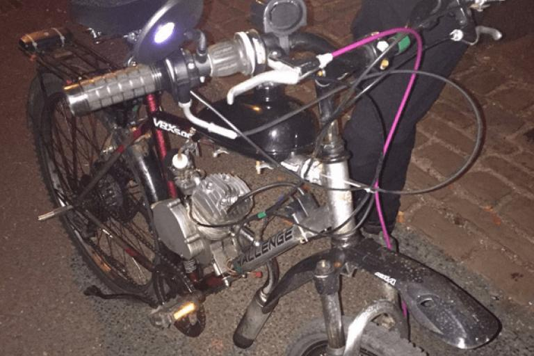 Bike seized in York (source NYP York City & East on Twitter).PNG