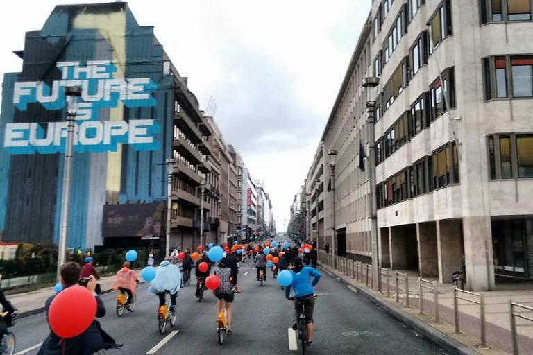Bikes in Brussels (via European Cyclists' Federation on Flickr)