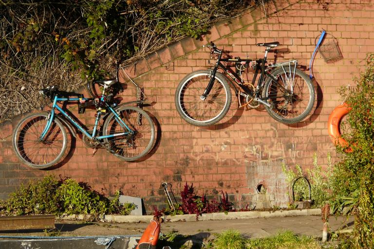 Bikes on a wall (CC BY-NC 2.0 Carron Brown|Flickr).jpg