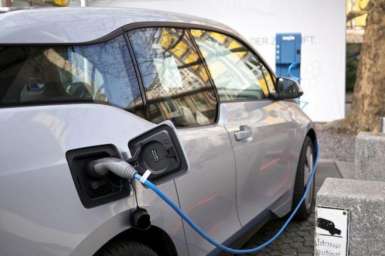 BMW i3 electric car (licensed CC BY 2.0 by Karlis Dambris on Flickr).JPG