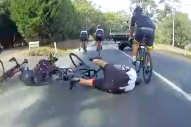 Brake check (via Cycliq Facebook)