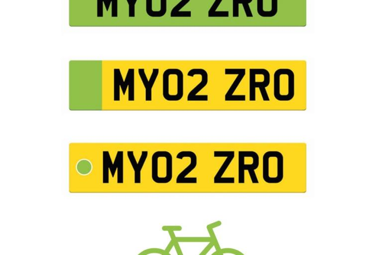 british cycling green number plates