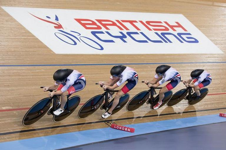 British Cycling logo at Lee Valley, World Championships 2016 (copyright Britishcycling.org_.uk).JPG