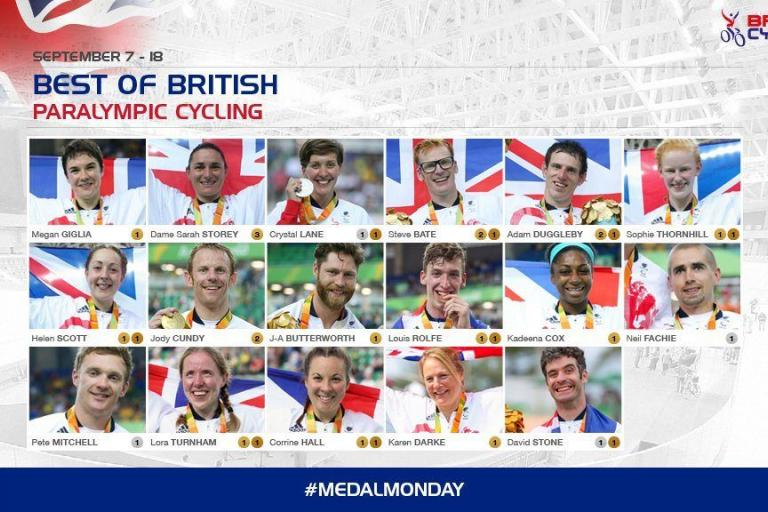 British Cycling Parralympics medals image