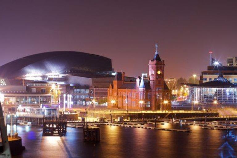 Cardiff by night - image vie Pete Birkinshaw on Flickr.jpg