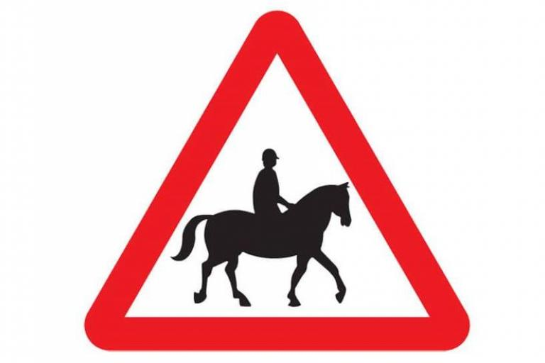 Caution - Hore and rider sign.JPG