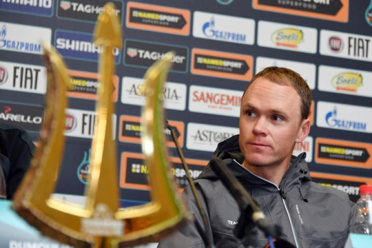 Chris Froome on eve of 2018 Tirreno-Adriatico (picture credit LaPresse - D'Alberto, Ferrari).jpg